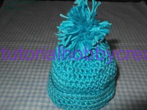 Tutorial mini cappellino con pon-pon portaconfetti (10)