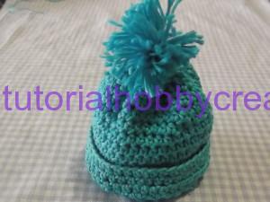 Tutorial mini cappellino con pon-pon portaconfetti (13)