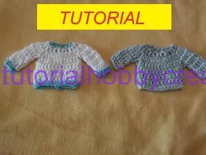 Tutorial mini magliette uncinetto bomboniera (1)