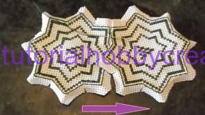 Tutorial per realizzare un biscornu a forma di stella in tela aida (8)