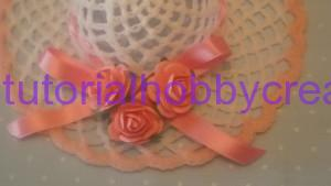Tutorial per realizzare un cappellino all'uncinetto inamidato (18)