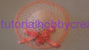 Tutorial per realizzare un cappellino all'uncinetto inamidato (19)