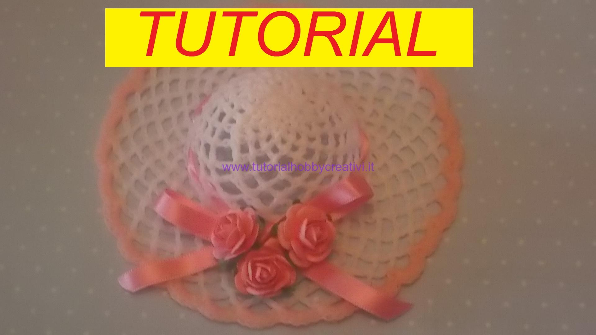 Favorito Tutorial per realizzare un cappellino all'uncinetto inamidato  EV33