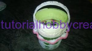Tutorial per realizzare un cestino all'uncinetto  inamidato bomoniera 6