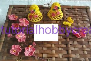 Tutorial per realizzare una ghirlanda di Pasqua con campane farfalle e fiori ll'uncinetto (3)