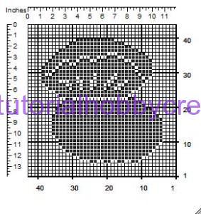 tutorial per realizzare un cuscino portafedi a filet modello ostrica con perle (3)