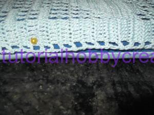 tutorial per realizzare un cuscino portafedi a filet modello ostrica con perle (8.)