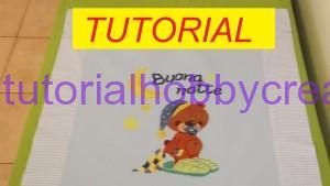 tutorial per realizzare una copertina in cotonina e tela aida (1)