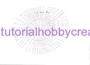 tutorial per realizzare una scatola rotonda all'uncinetto inamidata (4)