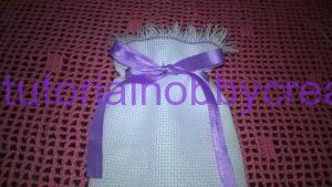 tutorial sacchettino tela aida con frange e passanastro (10)