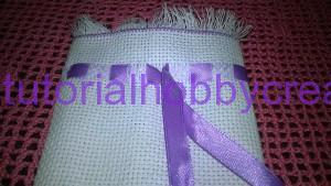 tutorial sacchettino tela aida con frange e passanastro (9)