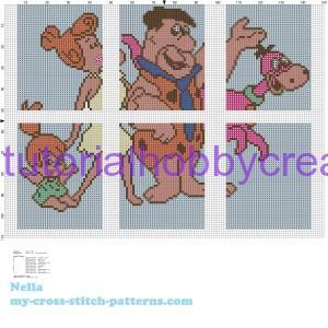 puzzle punto croce tutorial (4)