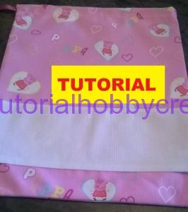 Tutorial per realizzare un sacchetto asilo con inserto in tela aida da ricamare a punto croce (1)
